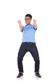 Hombre joven que señala en usted Fotos de archivo libres de regalías