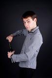 Hombre joven romántico hermoso Fotos de archivo
