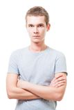 Hombre joven serio confidente Imagen de archivo libre de regalías