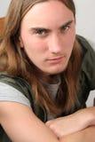 Hombre joven serio - retrato Imagen de archivo libre de regalías