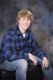 Hombre joven sonriente hermoso Imagen de archivo