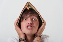 Hombre joven sorprendente Imágenes de archivo libres de regalías