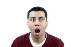 Hombre joven sorprendido Fotos de archivo