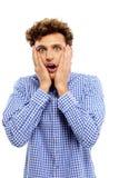 Hombre joven sorprendido Imagen de archivo libre de regalías