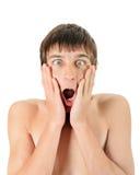 Hombre joven sorprendido Fotografía de archivo