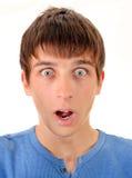 Hombre joven sorprendido Imagenes de archivo
