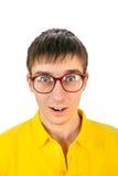 Hombre joven sorprendido Fotografía de archivo libre de regalías