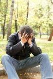 Hombre joven triste Fotografía de archivo