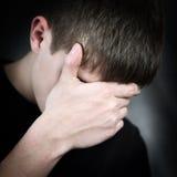 Hombre joven triste Imágenes de archivo libres de regalías