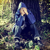 Hombre joven triste Fotos de archivo