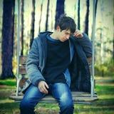 Hombre joven triste Fotos de archivo libres de regalías