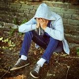 Hombre joven triste Imagen de archivo