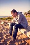 Hombre joven triste imagen de archivo libre de regalías