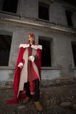 Hombre joven vestido como rey fotos de archivo libres de regalías