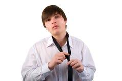 Hombre joven y corbata hermosos. Fotos de archivo