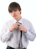 Hombre joven y corbata hermosos. Foto de archivo libre de regalías