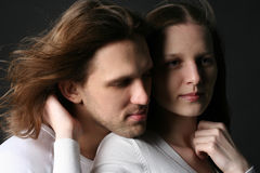 Hombre joven y mujer fotos de archivo libres de regalías