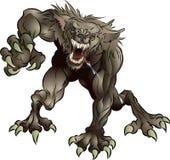 Hombre lobo asustadizo del grun ido Foto de archivo