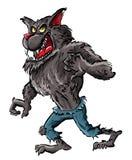 Hombre lobo de la historieta con las garras y los dientes libre illustration