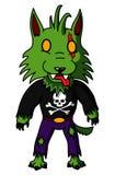 Hombre lobo del zombi Imagen de archivo libre de regalías