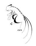 Hombre lobo estilizado Imagenes de archivo