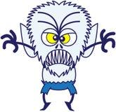 Hombre lobo furioso de Halloween que es asustadizo stock de ilustración