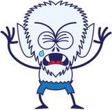 Hombre lobo lindo de Halloween que llora y que solloza stock de ilustración