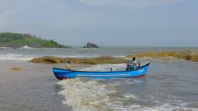 Hombre local del pescador en Gokarna, Karnataka, la India Imagen de archivo