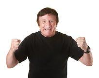 Hombre maduro emocionado Imagen de archivo libre de regalías