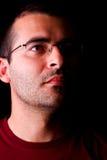Hombre masculino con los vidrios Foto de archivo libre de regalías