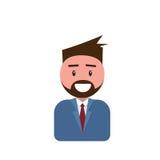 Hombre masculino de Avatar del icono del perfil, historieta Guy Beard Portrait, persona casual del inconformista Imágenes de archivo libres de regalías