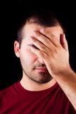 Hombre masculino Embarrassed Imagen de archivo libre de regalías