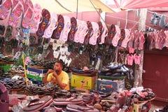 Hombre mauriciano - escena del mercado Imagen de archivo