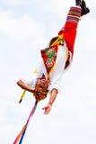 Hombre maya del aviador en la danza de los aviadores Imagenes de archivo