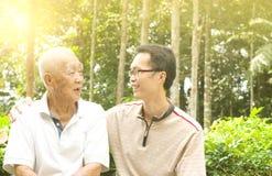 Hombre mayor asiático fotos de archivo libres de regalías