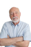 Hombre mayor - brazos cruzados foto de archivo libre de regalías