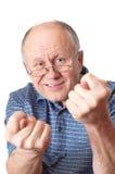 Hombre mayor calvo que engaña alrededor Foto de archivo