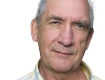 Hombre mayor con el tacto de la ironía imágenes de archivo libres de regalías