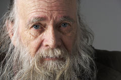 Hombre mayor con la barba larga Fotos de archivo libres de regalías
