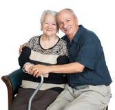 Hombre mayor con la mujer mayor Foto de archivo libre de regalías