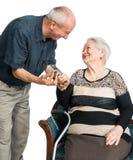 Hombre mayor con la mujer mayor Imagen de archivo libre de regalías