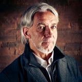 Hombre mayor en estudio Imagen de archivo