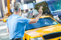 Hombre mayor en Nueva York Fotos de archivo