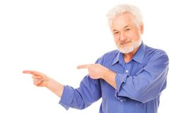Hombre mayor feliz con la barba Fotos de archivo libres de regalías