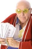 Hombre mayor que gana la lotería Fotos de archivo