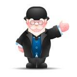 Hombre mayor que señala en una dirección Imagen de archivo