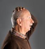 Hombre mayor sorprendido Imagen de archivo