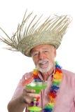 Hombre mayor y Margarita tropicales fotos de archivo