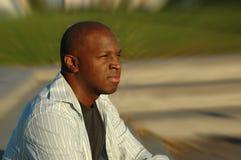 Hombre meditating Foto de archivo libre de regalías