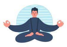 Hombre Meditating ilustración del vector
